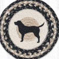 Capitol Importing 80-9-093BLS 10 x 10 in. MSPR-9-93 Black Lab Silhouette Printed Round Trivet - 1