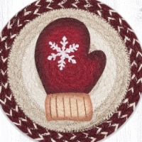 Capitol Importing 80-9-117RM 10 x 10 in. MSPR-9-117 Red Mitten Printed Round Trivet - 1