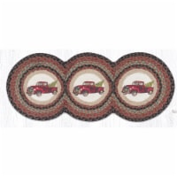 Capitol Importing 95-530CT 15 x 36 in. TCP-530 Christmas Truck Printed Tri Circle Runner - 1