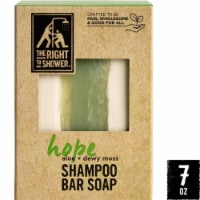 The Right To Shower Hope Aloe + Dewy Moss Shampoo Bar & Bar Soap