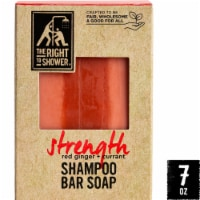 The Right To Shower Strength Red Ginger + Currant Shampoo Bar & Bar Soap
