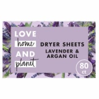 Love Home & Planet Lavender & Argan Oil Dryer Sheets 80 Count