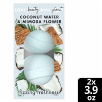 Love Beauty and Planet Fizzing Freshness Coconut Water & Mimosa Flower Bath Bombs 2 Count