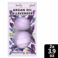 Love Beauty and Planet Soothing Spa Argan Oil & Lavender Bath Bombs