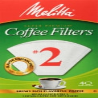 Melitta #2 Super Premium Paper Cone Coffee Filters - White