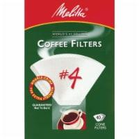 Melitta #4 Cone Coffee Filters - White