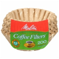 Melitta Paper Basket Coffee Filter - 200 Pack - Natural Brown - 8-12 Cup