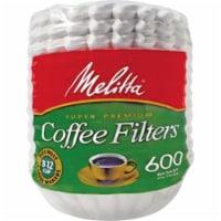 Melitta MLA631132 Super Premium Basket-Style Coffee Filter - White, 600 Count