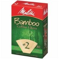 Melitta #2 Bamboo Coffee Filters - 80 ct