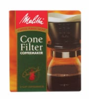 Melitta Pour-Over Brewing Cone with Glass Carafe - 6 c