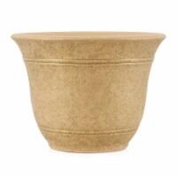 Listo Sierra Arizona Sand SRA10001P09 Poly Flower Pot - 7.38 x 10 in