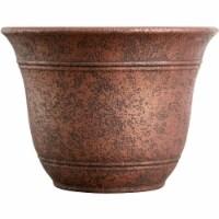 Listo Sierra 9.63 In. H. x 13 In. Dia. Rustic Redstone Poly Flower Pot - 1