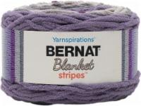 Bernat Blanket Stripes Yarn-Eggplant - 1