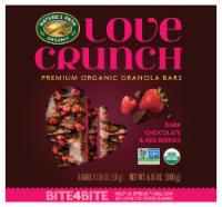 Nature's Path Organic Love Crunch Dark Chocolate & Red Berries Granola Bars 6 Count