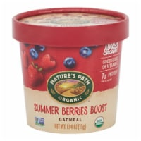Nature's Path Organic Summer Berries Boost Oatmeal Cup