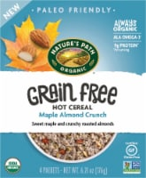 Nature's Path Organics Grain Free Maple Almond Crunch Hot Cereal Packets 4 Count - 6.21 oz