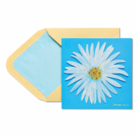 Papyrus (S18) Blue Flower - Birthday Card