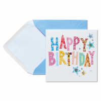 Papyrus (S14) Stitching - Birthday Card