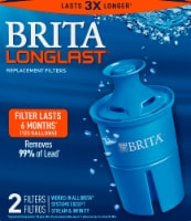 Brita Longlast Water Filtration System Replacement Filters - Blue