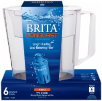 Brita Small 6 Cup Water Filter Pitcher - White/Clear