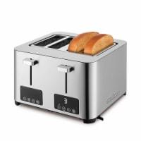 Salton 4 Slot/Slice Modern Adjustable Digital Kitchen Countertop Toaster, Silver - 1 Piece