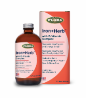 Flora Iron + Herb with B-Vitamin Complex Liquid Dietary Supplement