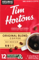 Tim Horton's Medium Roast Original Blend Coffee K-Cup Pods 12 Count