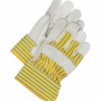 Bdg Leather Gloves,Blue/Tan/Yellow,M,PR  40-1-281ECU