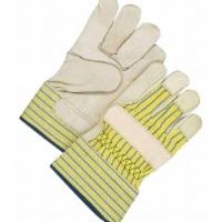 Bdg Leather Gloves,Blue/Tan/Yellow,L,PR  40-1-1511E - 1