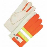 Bdg Leather Gloves,Orange/Tan,XL,PR  20-1-982