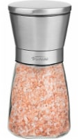 Trudeau Upside Down Pink Himalayan Salt Mill - Clear/Silver