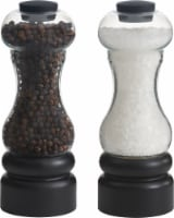 Trudeau New York Pepper & Salt Mills - 2 pc - Black/Clear