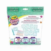 Crayola 30372970 Glitter Dots Sticker Stencils - Custom Glitter Stickers