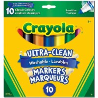 Crayola Ultra-Clean Washable Markers - 10 Classic Colours - 1