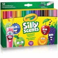 Crayola Silly Scents Wedge Tip Markers, 12 Count - 1
