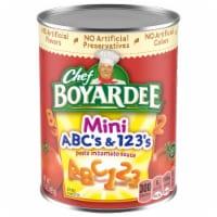 Chef Boyardee Mini ABC's & 123's Pasta in Tomato & Cheese Sauce