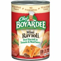 Chef Boyardee Mini Beef Ravioli in Tomato & Meat Sauce