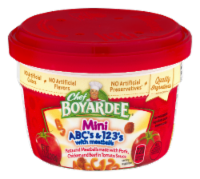 Chef Boyardee Mini ABC's & 123's with Meatballs Microwavable Cup