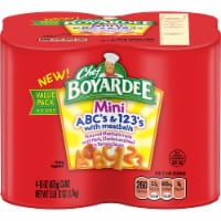 Chef Boyardee Mini ABC's & 123's Pasta and Meatballs 4 Count