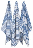 Now Designs Extra Large Wovern Cotton Kitchen Dish Towels Royal Blue Set of 3 - Set of 3