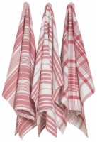 Now Designs Extra Large Red Wovern Cotton Kitchen Dish Towels - 24 in x 26 in / 3 pk