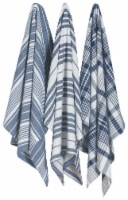 Now Designs Extra Large Wovern Cotton Kitchen Dish Towels Indigo Blue Set of 3 - Set of 3