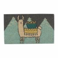 Now Designs 30 x 18 Natural Fiber Decorative Welcome Home Doormat, Llamarama - 1 Piece