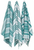 Now Designs Extra Large Wovern Cotton Kitchen Dish Towels Peacock Green Set of 3 - Set of 3