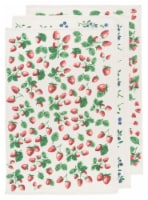 Now Designs Flour Sack Cotton Printed Kitchen Dish Towels Berry Patch Set of 3 - Set of 3