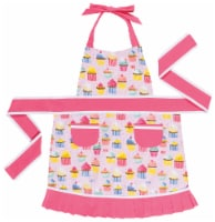 Jubilee Kids Sally Apron for Girls Aged 2-7 yrs 100% Cotton Cupcakes - 1 ct