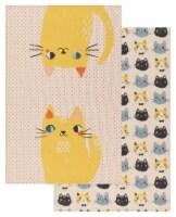 Danica Studio Coordinated Prints Meow Meow Cotton Linen Dish Towels - 2 ct