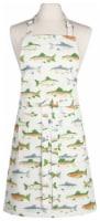 Now Designs Kitchen Apron for Women Men Unisex Adjustable Cotton Gone Fishin - 1 ct