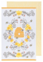 Now Designs 100% Cotton Woven Printed Kitchen Dish Towels Bees - 2 pk