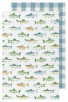 Now Designs 100% Cotton Woven Printed Kitchen Dish Towels Gone Fishin Set of 2 - 2 pk